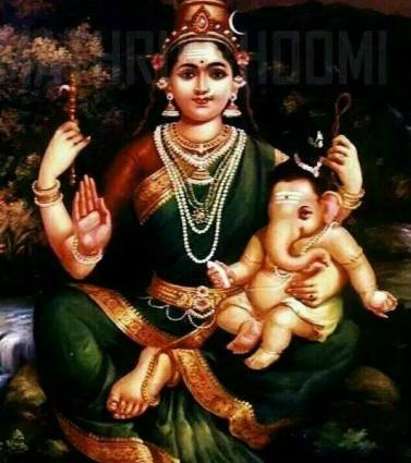 Hindu-Goddess-Parvathi-With-Her-Son-Lord-Ganesha