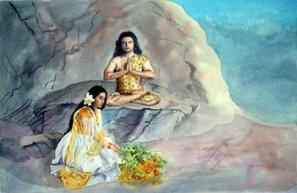 Parvati_Serving_Shiva